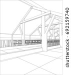 abstract industrial building...   Shutterstock .eps vector #692159740