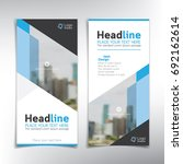 vertical banner vector... | Shutterstock .eps vector #692162614