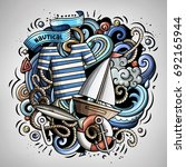 nautical 3d cartoon vector... | Shutterstock .eps vector #692165944