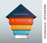 up arrow infographic options... | Shutterstock .eps vector #692166586