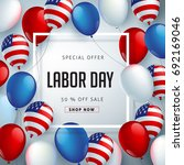 labor day sale promotion... | Shutterstock .eps vector #692169046