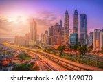 cityscape of kuala lumpur city... | Shutterstock . vector #692169070
