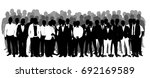 crowd of silhouettes of men... | Shutterstock .eps vector #692169589