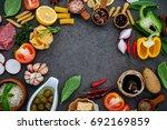 italian food cooking... | Shutterstock . vector #692169859