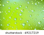 fresh vector water drops | Shutterstock .eps vector #69217219