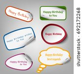 collection of colorful birthday ... | Shutterstock .eps vector #692172268