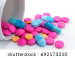 expired pills and  leaky... | Shutterstock . vector #692173210