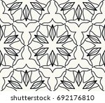 black and white geometric line... | Shutterstock .eps vector #692176810