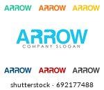 arrow negative space icon | Shutterstock .eps vector #692177488