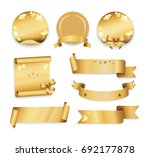 golden labels in round  square...   Shutterstock . vector #692177878