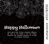 spider web. black and white... | Shutterstock .eps vector #692178550