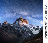 Fantastic Starry Sky Autumn Landscape - Fine Art prints
