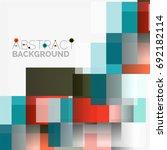 abstract blocks template design ...   Shutterstock . vector #692182114