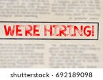 we re hiring  | Shutterstock . vector #692189098