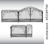 gates forged  fence | Shutterstock .eps vector #692189740