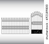 gates forged  fence | Shutterstock .eps vector #692189800