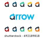a letter arrow icon  | Shutterstock .eps vector #692189818