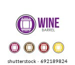 barrel icon | Shutterstock .eps vector #692189824