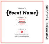 event invitation template with... | Shutterstock .eps vector #692190889