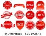 sale label elements ... | Shutterstock . vector #692193646