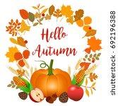 hello autumn vector... | Shutterstock .eps vector #692196388