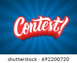 Contest Lettering Text Banner....