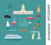 set of icons with cuban... | Shutterstock .eps vector #692202469
