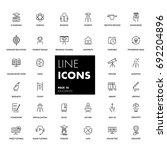 13. line icons set. education... | Shutterstock .eps vector #692204896