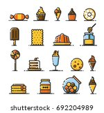 minimal flat  modern and fancy... | Shutterstock .eps vector #692204989