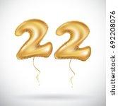 vector 22 anniversary... | Shutterstock .eps vector #692208076