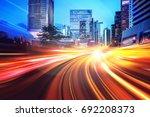 abstract speed technology... | Shutterstock . vector #692208373