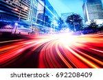 abstract speed technology... | Shutterstock . vector #692208409