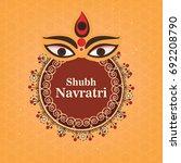 happy navratri  vector... | Shutterstock .eps vector #692208790