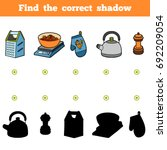 find the correct shadow ... | Shutterstock .eps vector #692209054