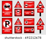 no parking sign set | Shutterstock .eps vector #692212678