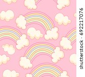 vector pink background with... | Shutterstock .eps vector #692217076