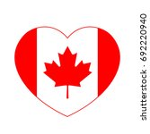 canada flag in the heart.... | Shutterstock .eps vector #692220940