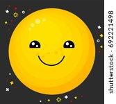 flat line emoji icon. emoticon...   Shutterstock .eps vector #692221498