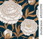 floral seamless pattern with...   Shutterstock .eps vector #692222950