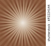 abstract soft brown rays... | Shutterstock .eps vector #692224144