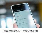 riga  august 2017   a brand new ...   Shutterstock . vector #692225128