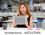 beautiful young adult thai... | Shutterstock . vector #692227090