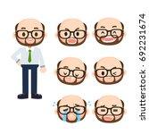 vector set of office male... | Shutterstock .eps vector #692231674