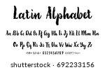 vector alphabet. calligraphic... | Shutterstock .eps vector #692233156