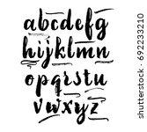 vector alphabet. calligraphic... | Shutterstock .eps vector #692233210