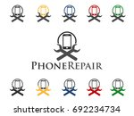 phone repair icon | Shutterstock .eps vector #692234734