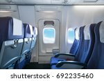 empty aircraft seats and... | Shutterstock . vector #692235460