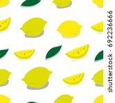lemon pattern. seamless pattern....   Shutterstock .eps vector #692236666