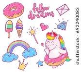 unicorn magic design element... | Shutterstock .eps vector #692240083