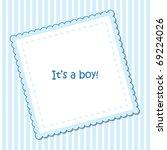 baby arrival announcement   Shutterstock .eps vector #69224026